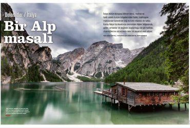"""Atlas Dergisi, """"Bir Alp Masalı: Dolomitler"""", Aralık 2019"""