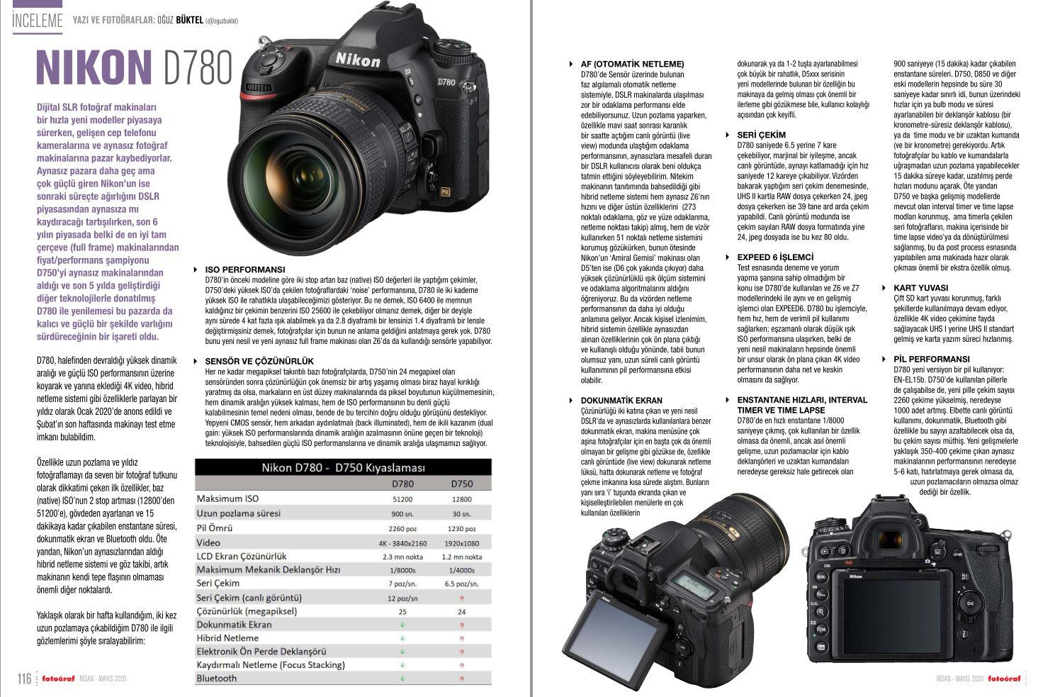 Fotoğraf Dergisi Nisan-Mayıs 2020 Sayısı: Nikon D780 İnceleme